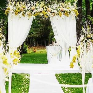 Plener ślub ceremonia