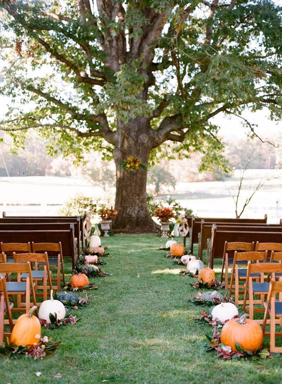 jesienne dekoracje weselne