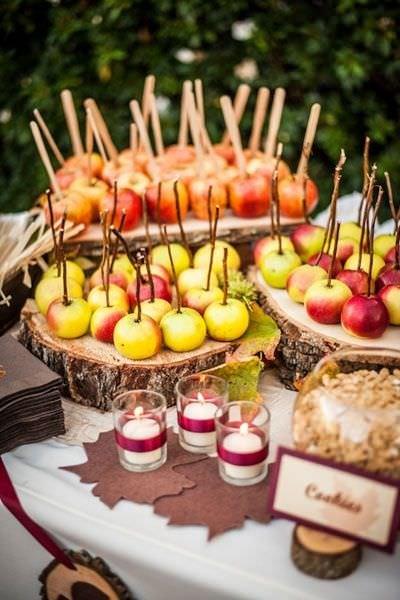 kandyzowane owoce na imprezę weselną