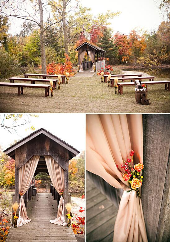 wesele jesienią sceneria