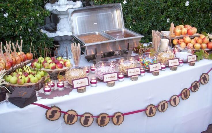 wesele słodki stół
