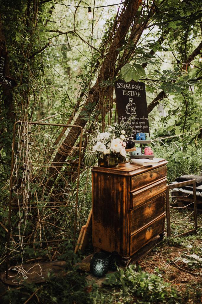 zdjęcia z polaroid na weselu