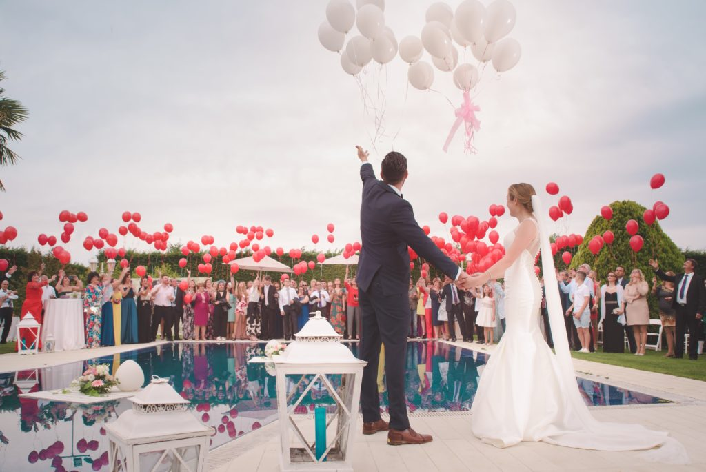 balony weselne